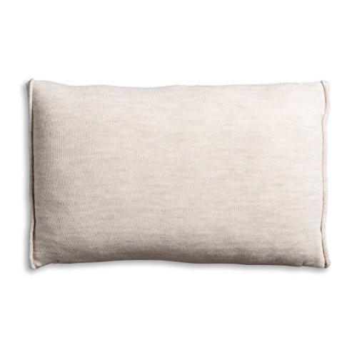 knit factory 1071312 dekokissen strickkissen noa mit f llung 60 x 40 cm beige online kaufen. Black Bedroom Furniture Sets. Home Design Ideas