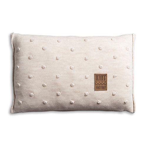 Knit-Factory-1071312-Dekokissen-Strickkissen-Noa-mit-Fllung-60-x-40-cm-beige-0