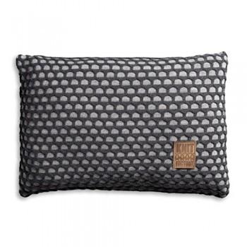 Knit-Factory-1081351-Dekokissen-Strickkissen-Mila-mit-Fllung-60-x-40-cm-grau-antra-0