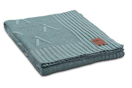 Knit-Factory-1101109-Strickdecke-Plaid-Aran-130-x-160-cm-stone-grn-0