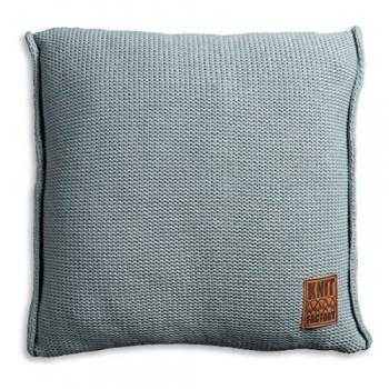 Knit-Factory-1131209-Dekokissen-Strickkissen-Uni-mit-Fllung-50-x-50-cm-stone-grn-0