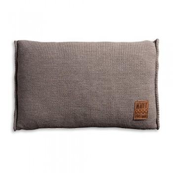 Knit-Factory-1131329-Dekokissen-Strickkissen-Uni-mit-Fllung-60-x-40-cm-taupe-0