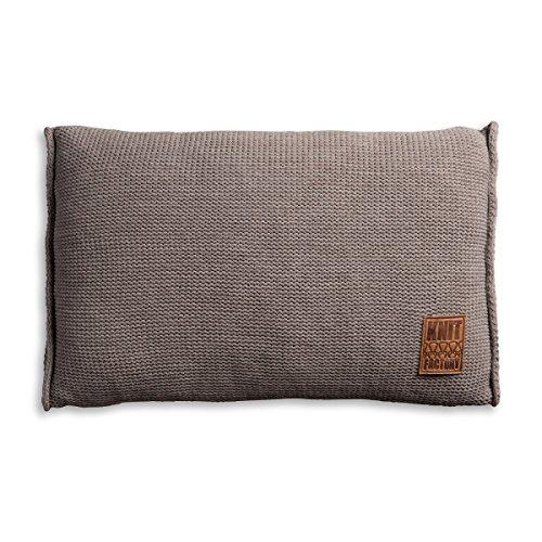 knit factory 1131329 dekokissen strickkissen uni mit f llung 60 x 40 cm taupe online kaufen. Black Bedroom Furniture Sets. Home Design Ideas