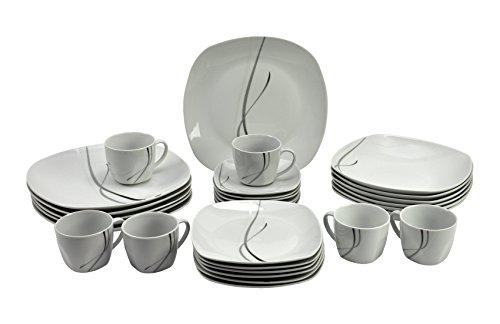 kombiservice silver night 30tlg f r 6 personen online. Black Bedroom Furniture Sets. Home Design Ideas