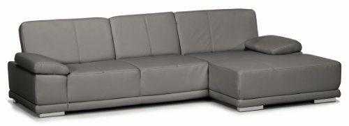 Lederecke-Corianne3er-Longchair282x80x162-cmLeder-Punch-antrazith-Poroflex-softy-platin-0