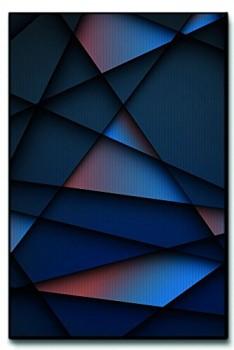 Leinwandbild-XXL-Moderne-Metall-Struktur-abstrakt-echter-Kunstdruck-120x80cm-90x60cm-60x40cm-Gre-80x120cm-0