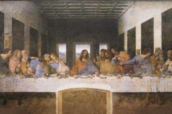 Leonardo-Da-Vinci-Das-Letzte-Abendmahl-1494-1499-Poster-Leinwandbild-Auf-Keilrahmen-120-x-80cm-0