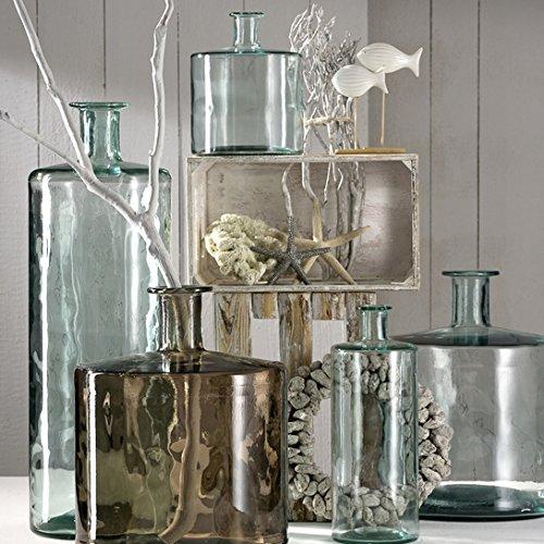 leonardo glas vase colosseo 45 cm gr n grau online. Black Bedroom Furniture Sets. Home Design Ideas
