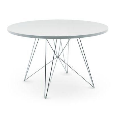 Magis-Tavolo-XZ3-Tisch-rund-wei-Gestell-chrom--120-cm-0
