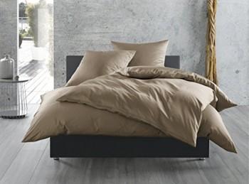 Mako-Satin-Baumwollsatin-Bettwsche-uni-einfarbig-zum-Kombinieren-40-cm-x-40-cm-Braun-0