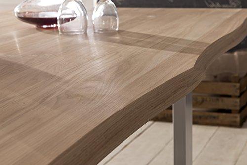Esstisch Wildeiche Massivholztisch Tisch Baumkante Eiche ...