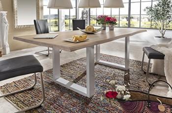 Massivholztisch-Esstisch-Wildeiche-massivholz-Bianco-gelt-200x100-Baumkante-Tisch-Gestell-in-weiss-NEU-OVP-0