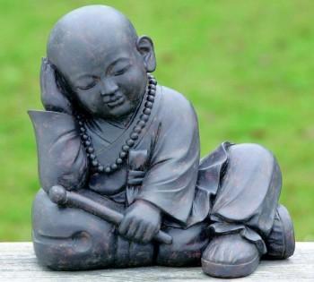 Mnch-Buddha-Skulptur-sitzend-Kunststein-wetterfest-Feng-Shui-0