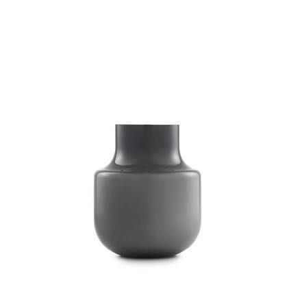 Normann-Still-Vase-H-19cm-grau-mundgeblasenes-Glas-0