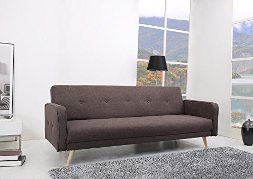 oslo schlafcouch stoff fuscous braun grau schlaffunktion sofa online kaufen bei woonio. Black Bedroom Furniture Sets. Home Design Ideas