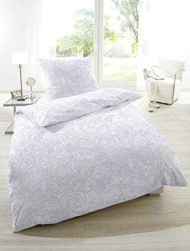 Hahn Mako Satin Bettwasche Ornamente Grau 155x220 Cm 80x80 Cm