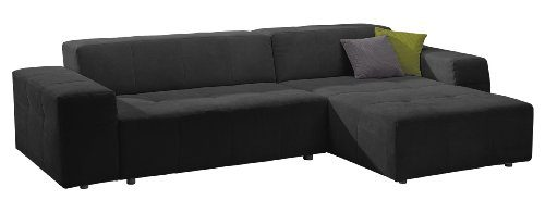 Polsterecke-Futoro3er-Bett-Longchair300x71x178-cmSolo-schwarz-0