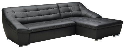 Polsterecke-Lucas3er-Longchair287x81x165-cmKunstleder-Bison-schwarz-0