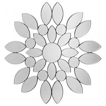 Premier-Housewares-Wandspiegel-Silber-Blte-0