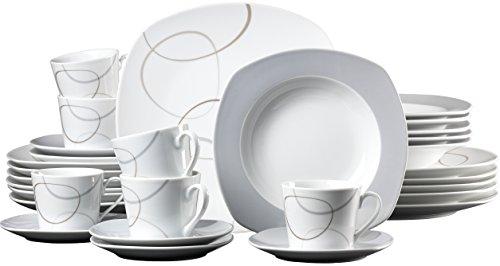 ritzenhoff breker 042665 kombiservice alina 30 teilig grau online kaufen bei woonio. Black Bedroom Furniture Sets. Home Design Ideas