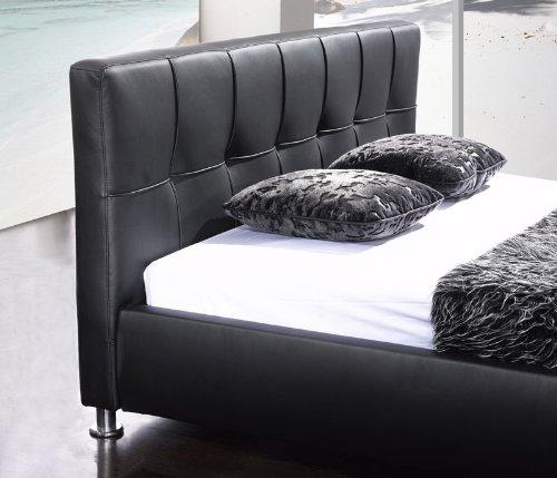 sam polsterbett bett zarah in schwarz 180 x 200 cm online. Black Bedroom Furniture Sets. Home Design Ideas