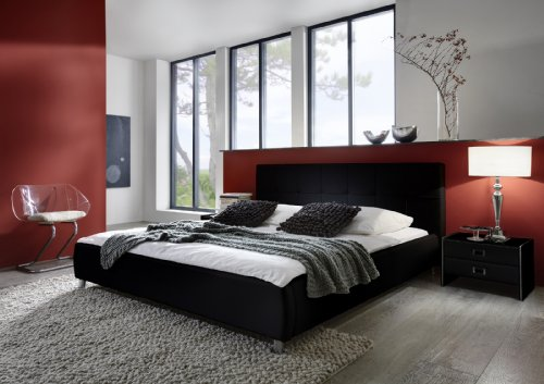 sam polsterbett bett zarah in schwarz 180 x 200 cm online kaufen bei woonio. Black Bedroom Furniture Sets. Home Design Ideas