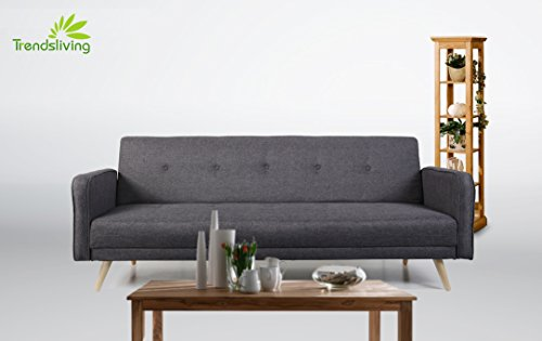 Schlafsofa farbe dunkelgrau online kaufen bei woonio for Schlafsofa funktionssofa