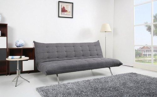Schlafsofa pedro schlafcouch stoff dunkelgrau for Couch dunkelgrau
