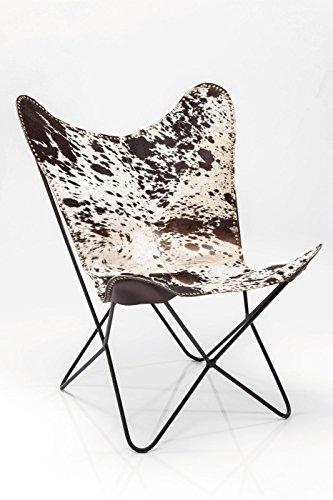 sessel butterfly cow rivet echt leder b71xt74xh92 by kare design online kaufen bei woonio. Black Bedroom Furniture Sets. Home Design Ideas