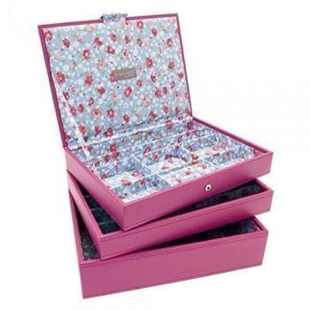 Stapelbares-Set-mit-3-Schmuck-Tablett-Boxen-Hot-Rosa-Medium-Stil-2-0