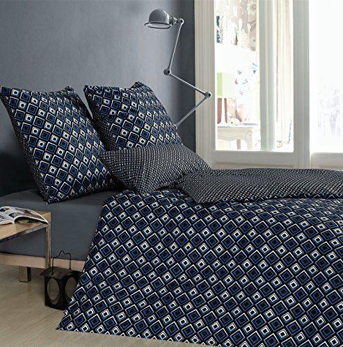 Sternenzelt-Wende-Bettwsche-LIRO-623174-Gr-135x200-cm-Fb-02-blau-Baumwolle-0