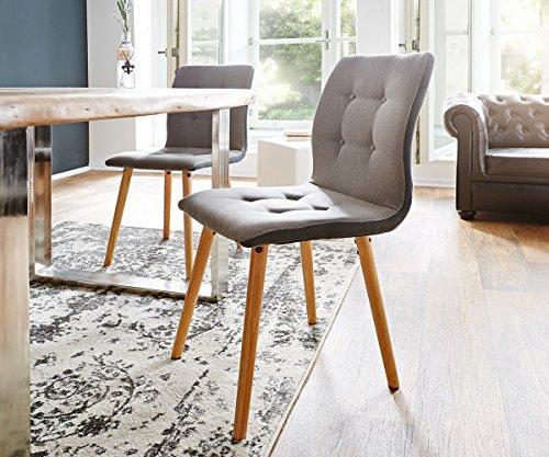 stuhl ferdi grau f e eiche massiv abgesteppt polstersitz. Black Bedroom Furniture Sets. Home Design Ideas