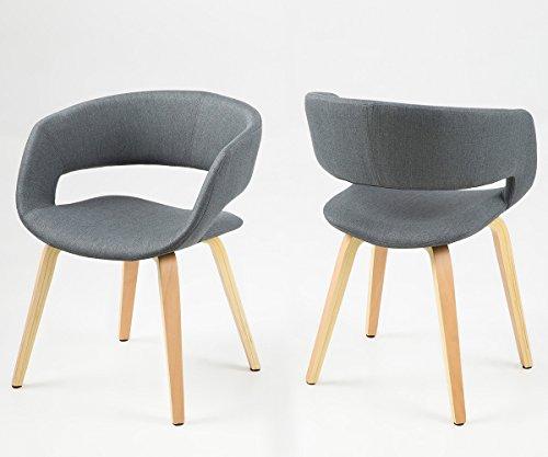 stuhl glendale grau gestell holzbeine natur mit armlehnen online kaufen bei woonio. Black Bedroom Furniture Sets. Home Design Ideas