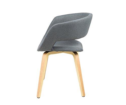stuhl glendale grau gestell holzbeine natur mit armlehnen. Black Bedroom Furniture Sets. Home Design Ideas