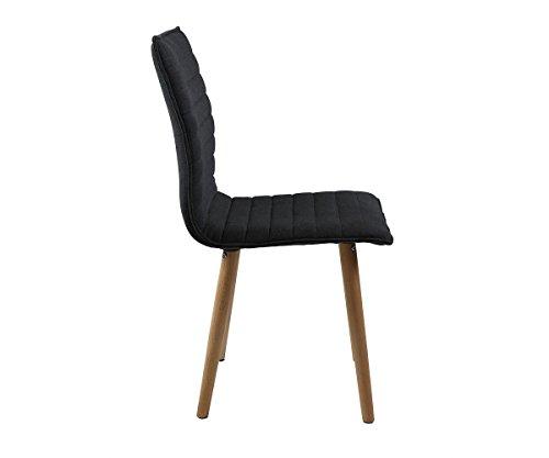 stuhl katia grau holzgestell eiche massiv mit keder esszimmerstuhl online kaufen bei woonio. Black Bedroom Furniture Sets. Home Design Ideas