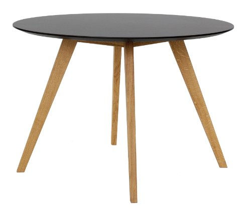 tenzo 2181 024 bess designer esstisch rund schwarz tischplatte mdf lackiert matt. Black Bedroom Furniture Sets. Home Design Ideas