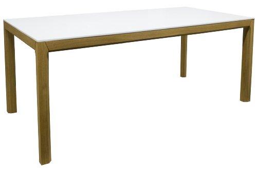 tenzo 2281 001 patch designer esstisch wei eiche tischplatte mdf lackiert matt. Black Bedroom Furniture Sets. Home Design Ideas
