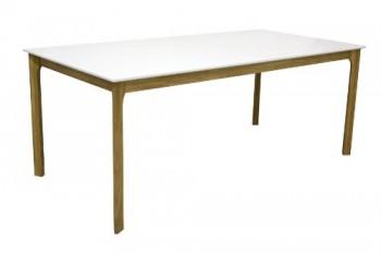 Tenzo-2380-001-More-Designer-Esstisch-wei-Tischplatte-MDF-lackiert-matt-Untergestell-Eiche-massiv-75-x-190-x-95-cm-HxBxT-0