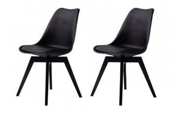 Tenzo-3317-824-Bess-2-er-Set-Designer-Esszimmerstuhl-Kunststoffschale-mit-Sitzkissen-in-Lederoptik-Untergestell-Birke-lackiert-82-x-48-x-54-cm-H-x-B-x-T-schwarz-0