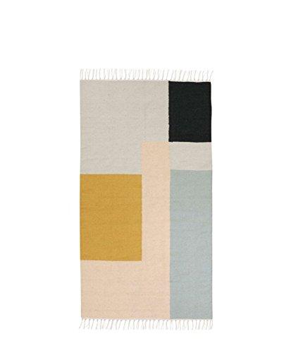 teppich kelim squares klein 80 x 140 cm von ferm living. Black Bedroom Furniture Sets. Home Design Ideas