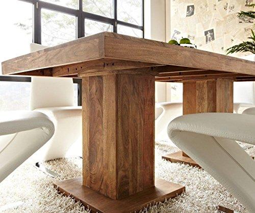 Tisch akazie stone 200x100 cm massivholz beine for Beistelltisch x beine