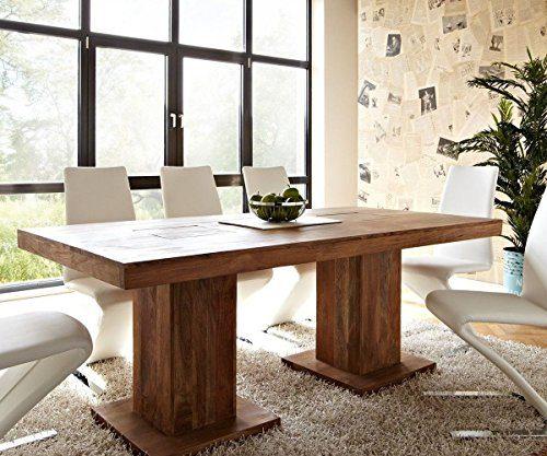 Tisch-Akazie-Stone-200x100-cm-Massivholz-Beine-durchstossen-0