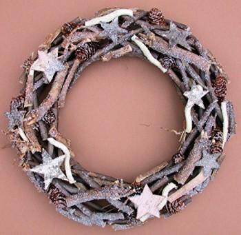 Trkranz-Herbst-Winter-ste-Zapfen-Sterne-braunbeige--38-cm-0