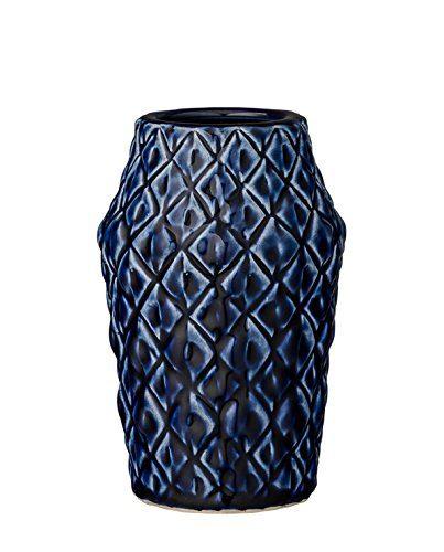 Vase-Square-Structure-Navy-Ceramic-95xH15-cm-0