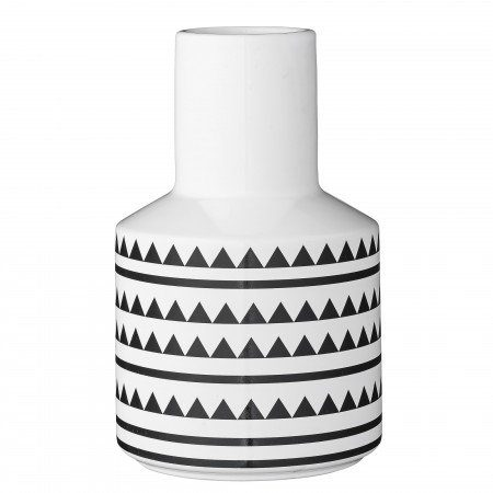 Vase-Triangles-wLines-WhiteBlack-Geramic-D13-0