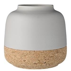 Vase-grau-mit-Korkboden-Bloomingville-0