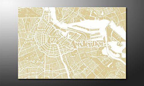 WandbilderXXL-Gedrucktes-Leinwandbild-Amsterdam-120x80cm-in-6-verschiedenen-Gren-Fertig-gespannt-auf-Holzkeilrahmen-Gnstige-Leinwanddrucke-fr-Kinderzimmer-Schlafzimmer-0