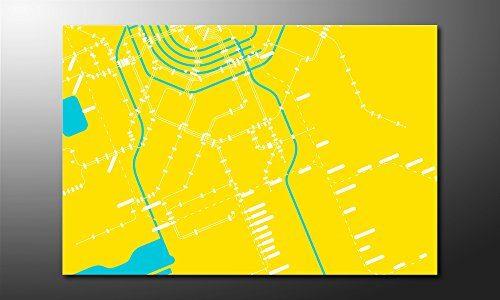 WandbilderXXL-Gedrucktes-Leinwandbild-Metro-Amsterdam-120x80cm-in-6-verschiedenen-Gren-Fertig-gespannt-auf-Holzkeilrahmen-Gnstige-Leinwanddrucke-fr-Kinderzimmer-Schlafzimmer-0