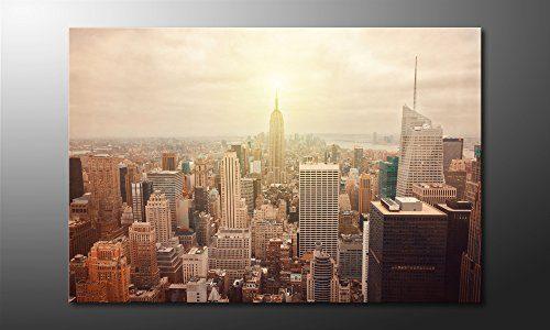 wandbilderxxl gedrucktes leinwandbild new york retro 120x80cm in 6 verschiedenen gr en. Black Bedroom Furniture Sets. Home Design Ideas