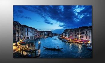 WandbilderXXL-Gedrucktes-Leinwandbild-Venice-Sunset-120x80cm-in-6-verschiedenen-Gren-Fertig-gespannt-auf-Holzkeilrahmen-Gnstige-Leinwanddrucke-fr-Kinderzimmer-Schlafzimmer-0